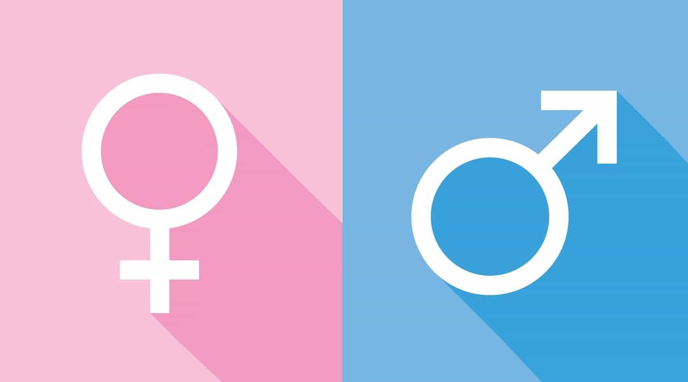 simbolos do gênero masculino e feminino